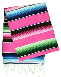 Mexican Classic Serape Table Runner - Pink
