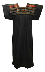 Mexican Cuyaca Tribal Dress - Black