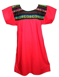 Mexican Cuyaca Tribal Dress - Red