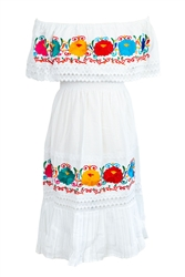 Shop Womens Off Shoulder Mexican Dress