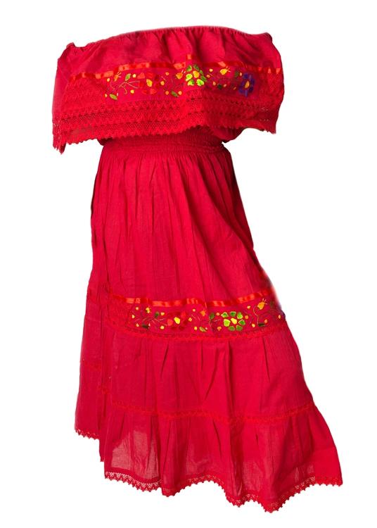 Buy Mexican Off Shoulder Dresses Fiesta Dress
