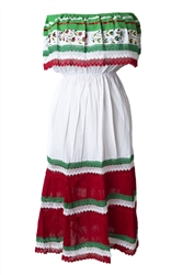 Mexican Pueblo Crochet Dress - Tri-Color