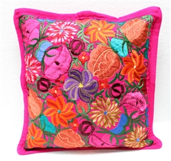 Mexican Embroidered Pillowcase - Pillow Case #12