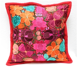 Mexican Embroidered Pillowcase - Pillow Case #13