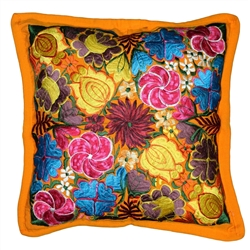 Mexican Embroidered Pillowcase - Pillow Case #14