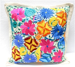 Mexican Embroidered Pillowcase - Pillow Case #16