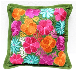 Mexican Embroidered Pillowcase - Pillow Case #18