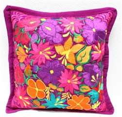 Mexican Embroidered Pillowcase - Pillow Case #19