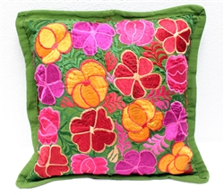 Mexican Embroidered Pillowcase - Pillow Case #23