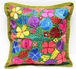 Mexican Embroidered Pillowcase - Pillow Case #24