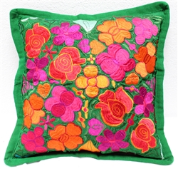 Mexican Embroidered Pillowcase - Pillow Case #28