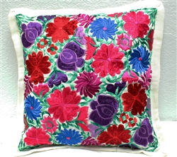 Mexican Embroidered Pillowcase - Pillow Case #32