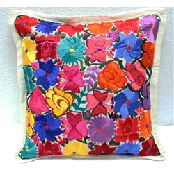 Mexican Embroidered Pillowcase - Pillow Case #33