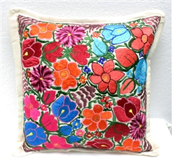 Mexican Embroidered Pillowcase - Pillow Case #4