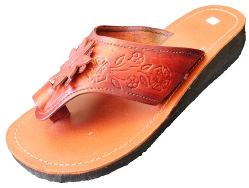 Floral Mexican Huarache Wedge Sandals