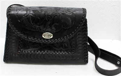 Mexican Hand Tooled Leather Purse - Cincelado 6