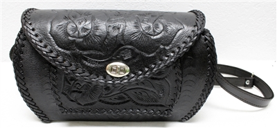 Mexican Hand Tooled Leather Purse - Cincelado 5