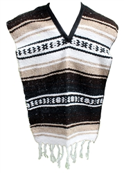 Kids Mexican Poncho - Brown