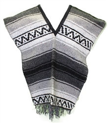 Kids Size Mexican Blanket Poncho - Pattern 11