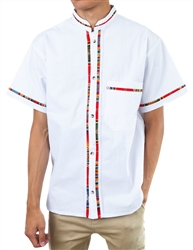 Men's Fiesta Button Down Shirt - White