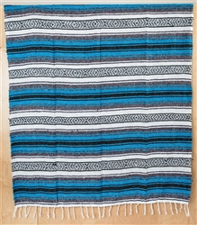 Mexican Falsa Blanket - Blue