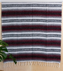 Mexican Blanket Traditional - Burgundy