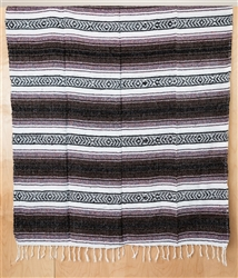 Mexican Falsa Blanket - Dark Brown