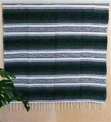 Mexican Falsa Blanket - Green