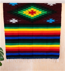 Colorful Mexican Heavy Blankets - Tribal 10