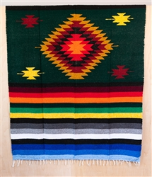 Colorful Mexican Heavy Blankets - Tribal 11