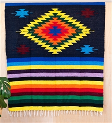 Colorful Mexican Heavy Blankets - Tribal 12