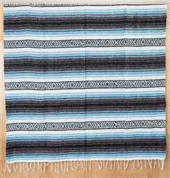 Mexican Falsa Blanket - Light Blue