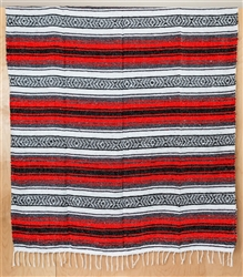 Mexican Blanket Traditional - Red