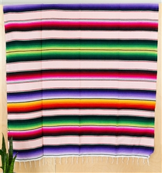 Serape Mexican Blankets - Multi Pink