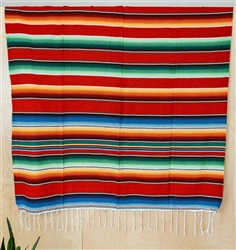 Find Mexican Serape Striped Blanket Throws