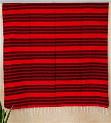 Shop for Serape Mexican Blankets - Red Black