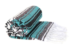 Mexican Falsa Blanket - Teal