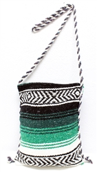 Mexican Blanket Bag - Green 1