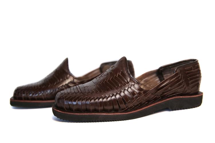(Raw & Rustic) Men's Generic Closed Toe Huarache Sandals - Dark Brown