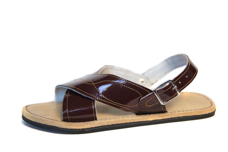 (Raw & Rustic) Men's Cruzado Huarache Sandals - Dark Brown