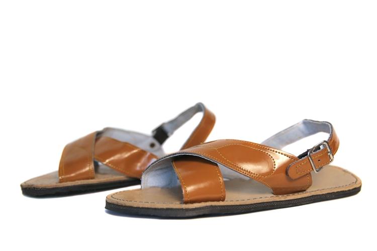 (Raw & Rustic) Men's Cruzado Huarache Sandals - Light Brown