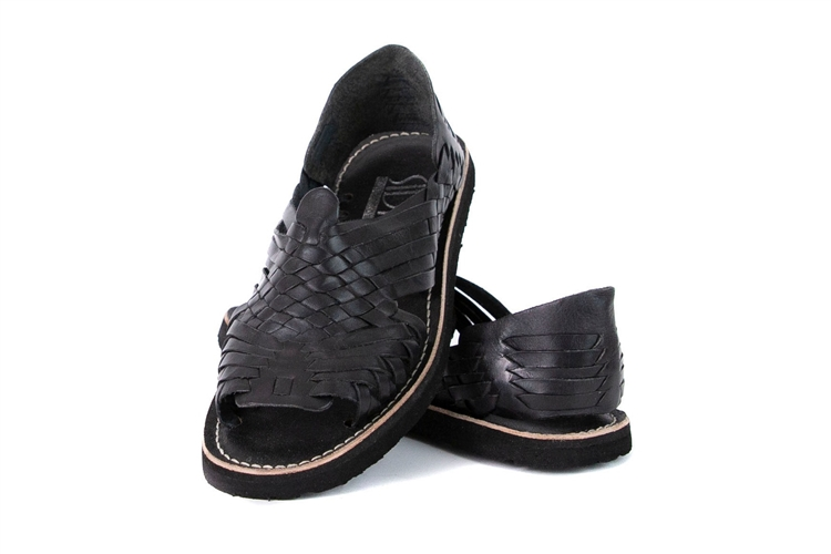 brand new f8ed5 aa58c (Raw & Rustic) Generic Women's Authentic Pachuco Huaraches - Black