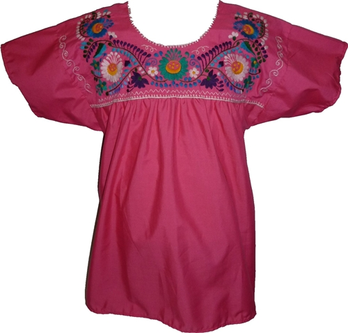 Unique Mexican Embroidered Blouses Long Sleeved Blouse