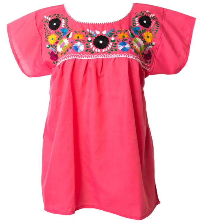 Embroidered pueblo blouse pink