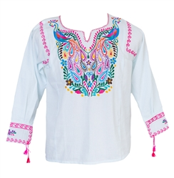 Buy Mexican Blouses Long Sleeve