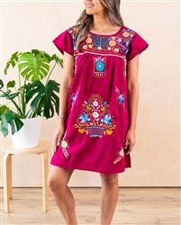 Shop Knee Length Mexican Bluson Pueblo Dress