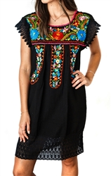 Shop Mexican Dresses for Women Crochet Knee Length