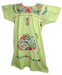 (3XL) Mexican Embroidered Pueblo Dress - Unique 201