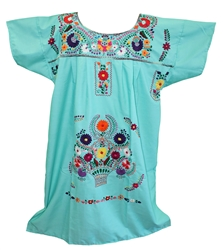 3XL Mexican Embroidered Pueblo Dress - Unique 203