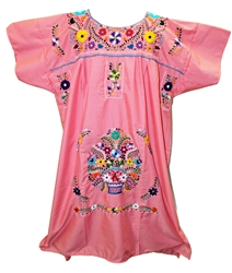 (4XL) Mexican Embroidered Pueblo Dress - Unique 252
